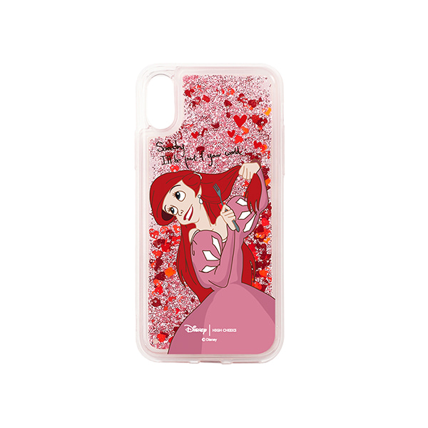 [블랙핑크 로제착용]Ariel Heart Glitter Phone Case