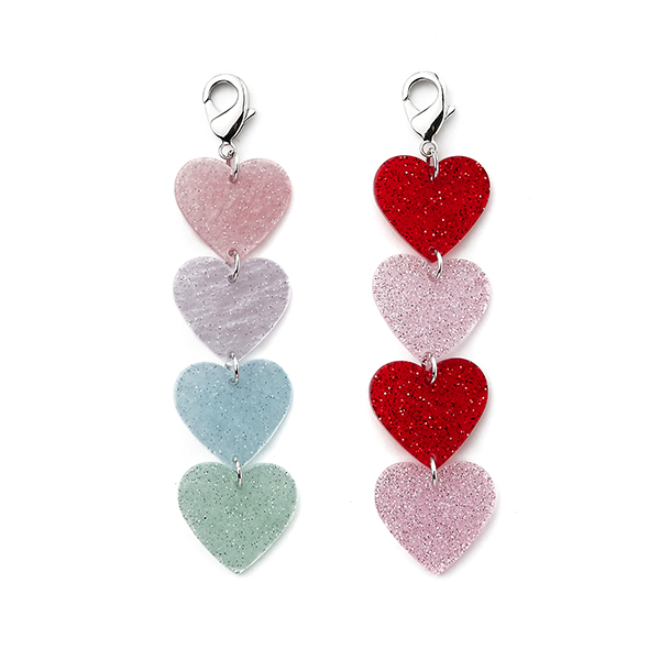 Dripping Hearts Bag Charm_2Color