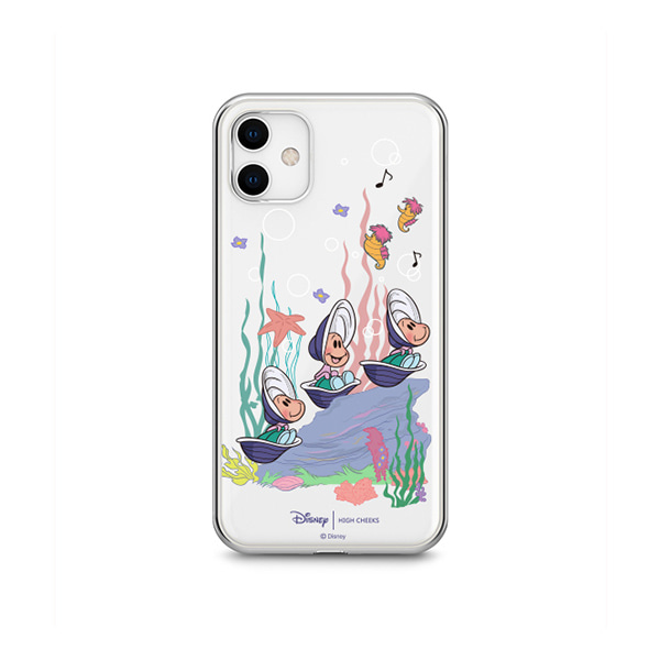 Oysters Under the Sea Clear Phonecase