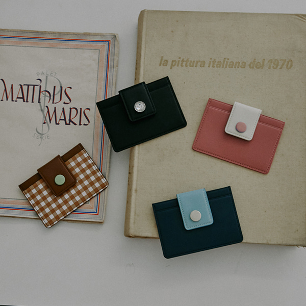 Button Slim Card Wallet_4Color