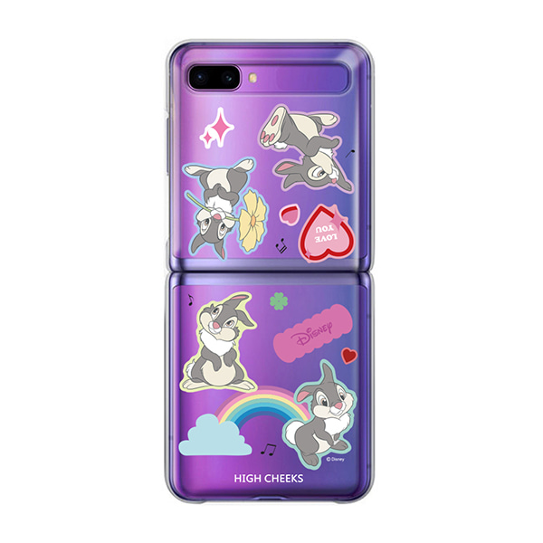 Dancing thumper Clear Phonecase_Z Flip