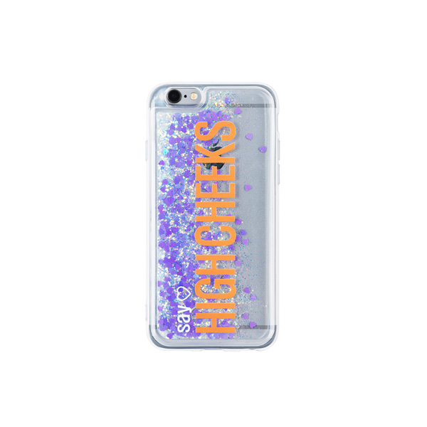 [문구고정]My Name Glitter Phonecase_Violet