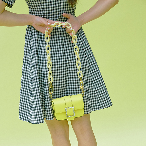 [SAMPLE SALE Price] Color Pop Chain Strap_Yellow